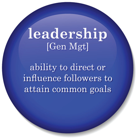 Illustration of dictionary definition of the term  leadership  Stock Photo