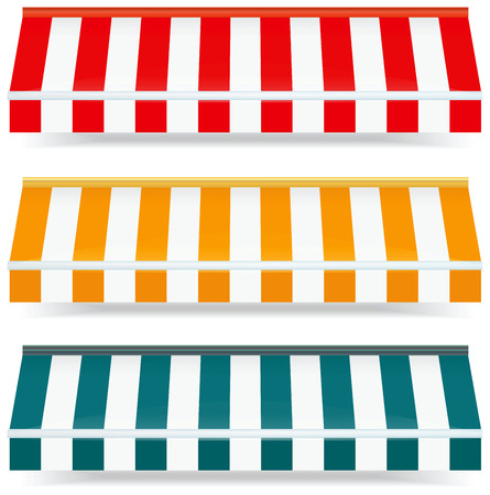 Vector Illustration of awnings  Vector