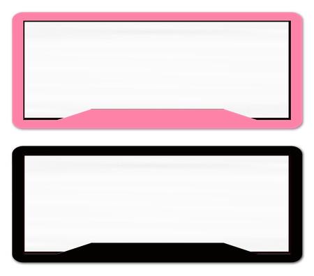 blanked: Blank Vehicle License Plate