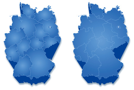 Political map of Germany with all states