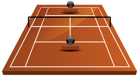 Vector Illustration of tennis court field in clay Vector