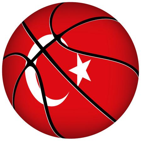 deutchland: EPS 10 Vector. 3D basket ball with German  flag on white. Illustration