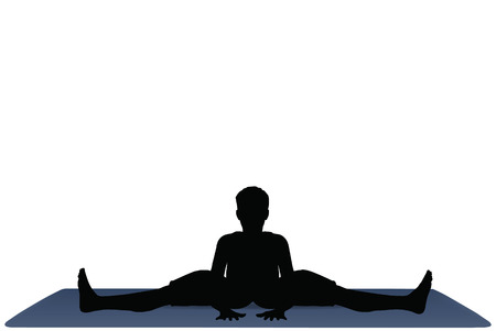 wide angle: EPS 10 vector illustration of Yoga positions in Wide Angle Bend pose Illustration