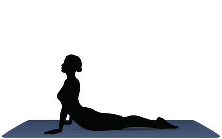 EPS 10 vector illustration of Yoga positions in Cobra Pose Vector