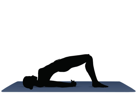 EPS 10 vector illustration of Yoga positions in Bridge Pose Illustration