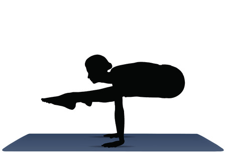 EPS 10 vector illustration of Yoga positions in Firefly Pose Vector