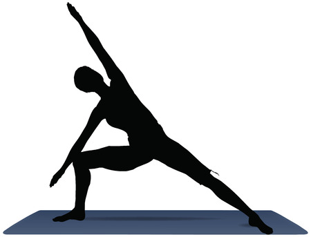 side angle pose: EPS 10 vector illustration of Yoga positions in Side Angle Pose
