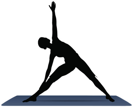 EPS 10 vector illustration of Yoga positions in Triangle Pose