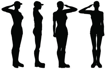 military uniform: Soldier, officer, captain, policeman saluting
