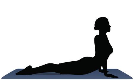 vector illustration of Yoga positions in Cobra Pose Illustration