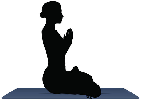 vector illustration of Yoga positions in Lotus  Pose Vector