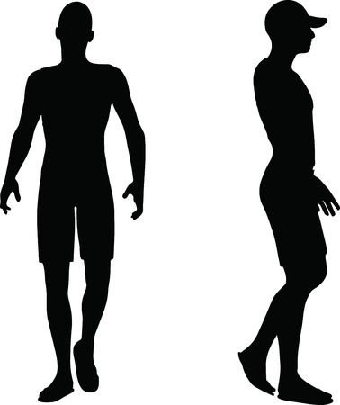 EPS 10 Vector Illustration of sportive man silhouette Vector