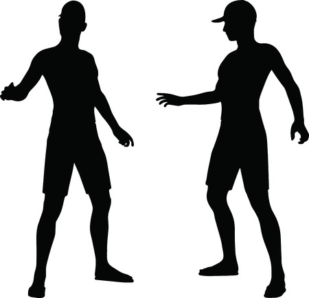 sportive: EPS 10 Vector Illustration of sportive man silhouette
