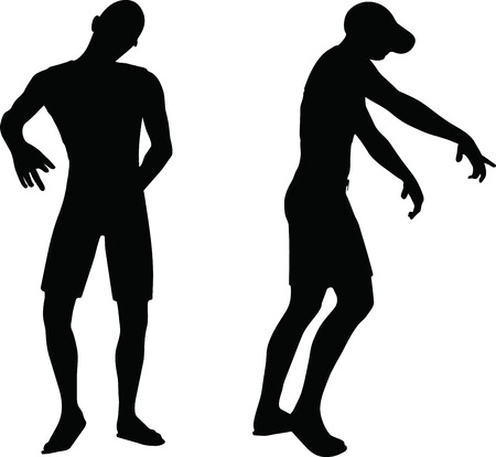 EPS 10 Vector Illustration of sportive man silhouette Stock Vector - 27172643