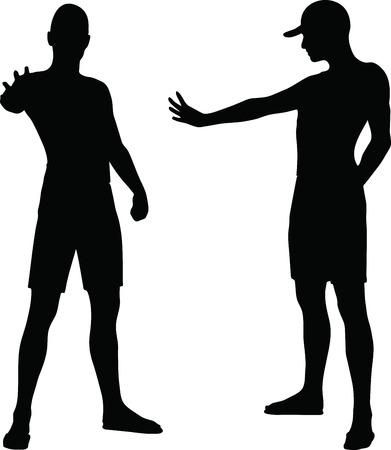 EPS 10 Vector Illustration of sportive man silhouette Stock Vector - 27172644