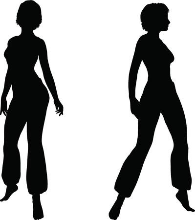 EPS 10 Vector Illustration of dancer woman silhouette Stock Vector - 27172124