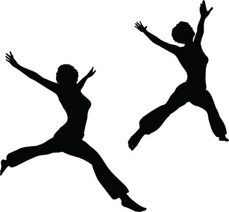 EPS 10 Vector Illustration of dancer woman silhouette Stock Vector - 27172655
