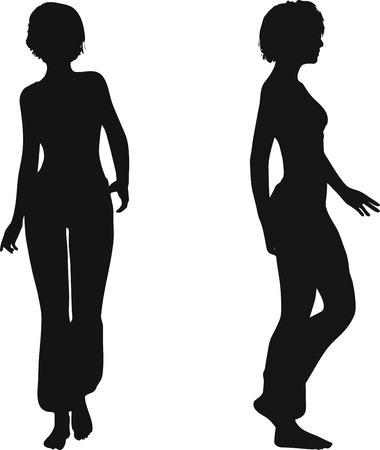 EPS 10 Vector Illustration of dancer woman silhouette Stock Vector - 27172656