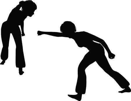 EPS 10 Vector Illustration of dancer woman silhouette Stock Vector - 27172677