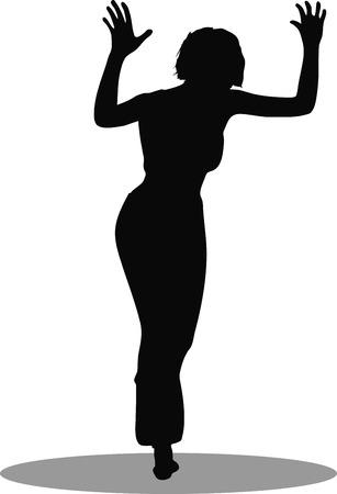 EPS 10 Vector Illustration of dancer woman silhouette Vector
