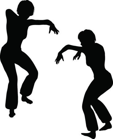 EPS 10 Vector Illustration of dancer woman silhouette Stock Vector - 27172679