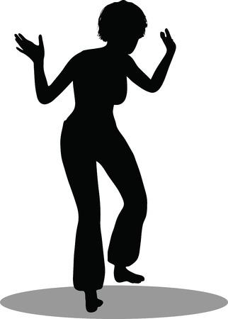 EPS 10 Vector Illustration of dancer woman silhouette Stock Vector - 27172683