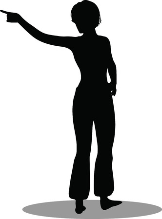 EPS 10 Vector Illustration of dancer woman silhouette Stock Vector - 27172687