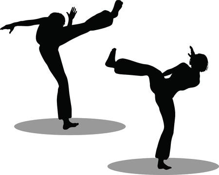 EPS 10 Vector Illustration of dancer woman silhouette Stock Vector - 27172697