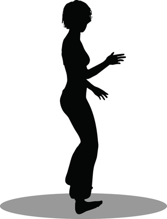 EPS 10 Vector Illustration of dancer woman silhouette Vector