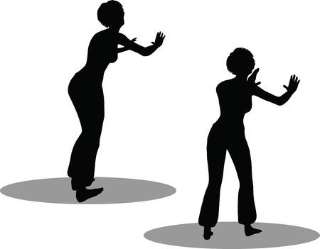 EPS 10 Vector Illustration of dancer woman silhouette Stock Vector - 27172703