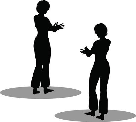 EPS 10 Vector Illustration of dancer woman silhouette Stock Vector - 27172708