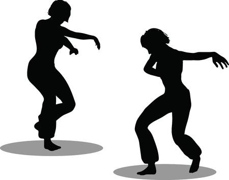EPS 10 Vector Illustration of dancer woman silhouette Stock Vector - 27172724
