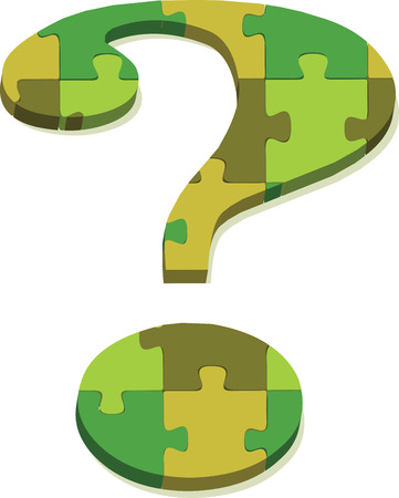 EPS 10 Vector Illustration of question mark in puzzle Vector