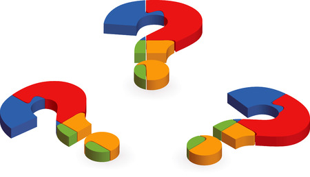 EPS 10 Vector Illustration of Question mark puzzle
