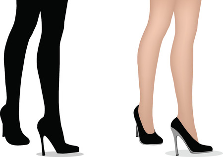EPS 10 Vector Illustration of female legs with high heels Vector