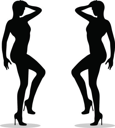 piernas de mujer: EPS 10 ilustraci�n vectorial de piernas femeninas con tacones altos