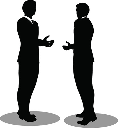 Vector illustration of business handshake silhouette Vector