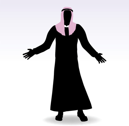 arab people: EPS 10 Vector Illustration of man in middle east style clothing dress Illustration