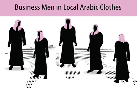 Illustration of man in middle east style clothing dress