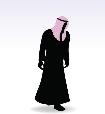 Illustration of man in middle east style clothing dress Vector