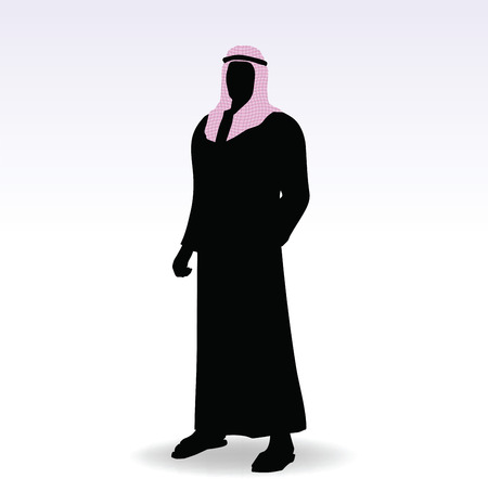 arab people: Illustration of man in middle east style clothing dress