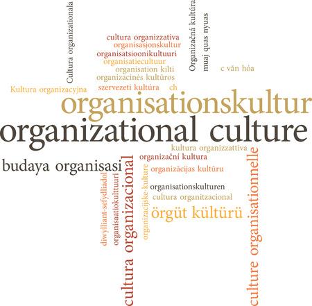 governmental: ilustraci�n de la palabra cultura organizacional en las nubes de palabras aisladas sobre fondo blanco