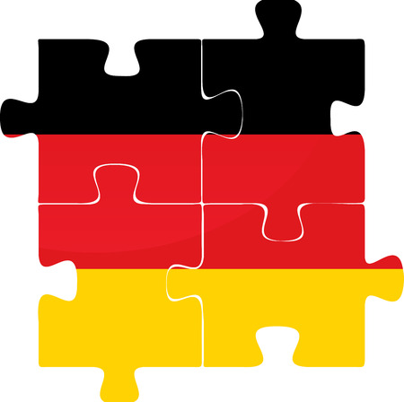 Vector illustration of German Flag in puzzle isolated on white background Vector