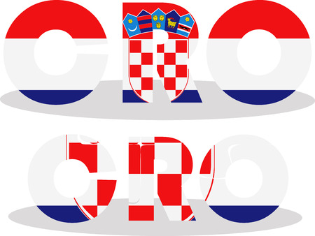 Vector illustration of Croatia Flag in puzzle isolated on white background Vector