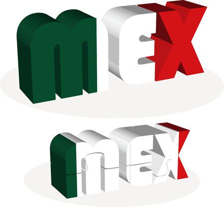 bandera mexico: Ilustraci�n vectorial de la bandera de M�xico en el rompecabezas aislado en fondo blanco