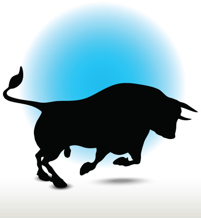 Vector illustration of Bull Silhouette Vector