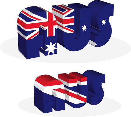 Vector illustration of Australia Flag in puzzle isolated on white background Vector