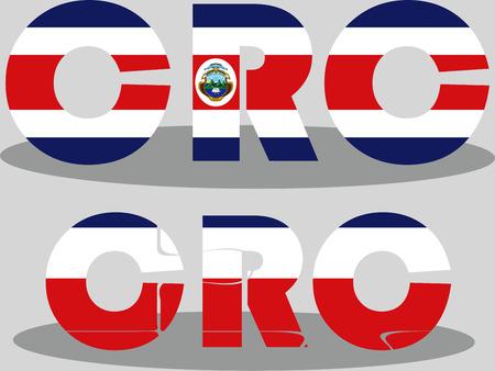 rican: Ilustraci�n vectorial de la bandera de Costa Rica en el rompecabezas aislado en fondo blanco