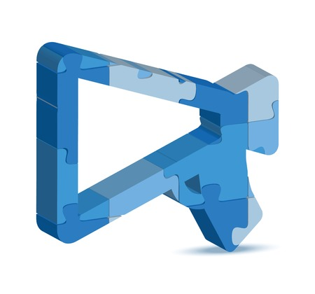 edicto: Ilustración del vector del icono de notificación en el rompecabezas Vectores