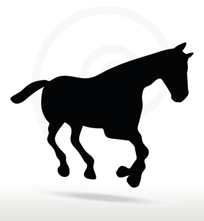 gallop:  horse silhouette in Gallop position